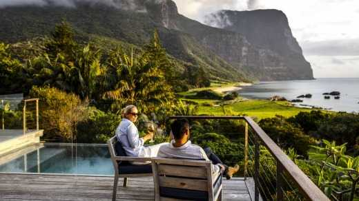 Bookings for the five-star Capella Lodge on Lord Howe Island were not in the charts, according to owner James Baillie.